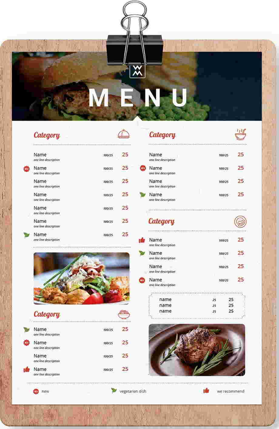 Online restaurant menu maker